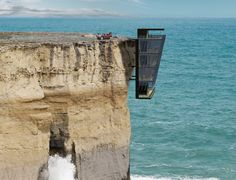 Modular House Design Concept Clings to the Side of a Cliff - My Modern Met