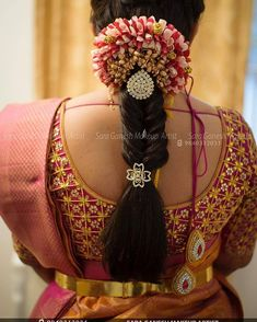 37 Trendy Wedding Hairstyles Indian Engagement Saree - Hairstyles for medium length hair South Indian Wedding Hairstyles, Bridal Hairstyle Indian Wedding, Bridal Hair Buns, Bridal Hairdo, Hair Wedding, Wedding Vows, Engagement Saree, Engagement Hairstyles, Indian Engagement