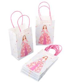 princess party treat bags (set of 8)