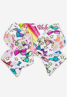 Hair Bows for Girls - JOJO SIWA | Justice this is a color your own bow. It's actually just black and white. Color it yourself!