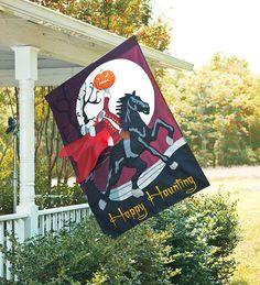 Oversized Embellished Halloween Flag