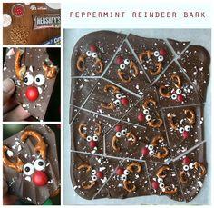 Peppermint reindeer bark