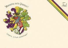 Couleurkarte der 1904 gegründeten Thelogischen Verbindung Macaria im DWV an der Phillips-Universität zu Marburg an der Lahn (Hessen) #Studentika #Studentenverbindung #Korporation #Burschenbund Fraternity, Hessen, Postcards