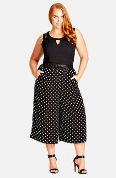 City Chic 'Spot' Culottes (Plus Size) available at #Nordstrom