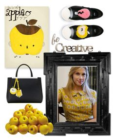 """Golden Delicious"" by christyshawn ❤ liked on Polyvore featuring Fendi and Letter2Word"