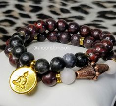 Gemstone Bracelets, Bracelet Set, Gemstone Jewelry, Stacking Bracelets, Rose Quartz Crystal, Crystal Beads, Chakra Crystals, Jasper