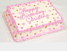 Image result for pink and gold birthday sheet cake