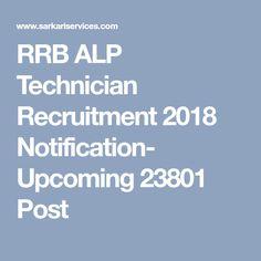 RRB ALP Technician Recruitment 2018 Notification- Upcoming 23801 Post Job Portal, Online Form, Government Jobs
