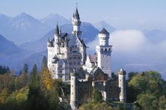 Neuschwanstein, nestled in the Bavarian Alps, is the most famous German castle and part of our list Top Ten Sights and Attractions in Germany.