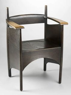 Charles Rennie Mackintosh, Oak Armchair for Francis Smith & Son, Cool Furniture, Modern Furniture, Furniture Design, Charles Rennie Mackintosh Designs, Mackintosh Furniture, Art Nouveau, Take A Seat, Cool Chairs, Chair Design