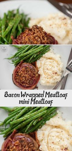 Bacon Wrapped Meatloaf is the best comfort food recipe you can make for dinner. Ground beef and bacon served as mini meatloaf for individual portion sizes! Baked Dinner Recipes, Sunday Dinner Recipes, Mexican Dinner Recipes, Clean Eating Recipes For Dinner, Vegetarian Recipes Dinner, Delicious Dinner Recipes, Mini Meatloaf Recipes, Bacon Meatloaf, Bacon Wrapped Meatloaf