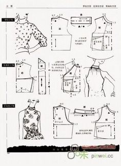Friends model applied blouse pattern samples will be useful to examine :] :] . Friends model applied blouse pattern samples to examine the benefit of . Make Your Own Clothes, Diy Clothes, Blouse Patterns, Clothing Patterns, Patron Vintage, Sewing Blouses, Modelista, Easy Sewing Patterns, Collar Pattern