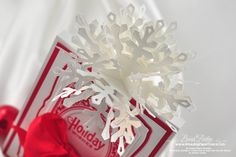 Vertical pop up snowflake card