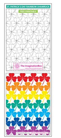 Colour this 'Rainbow Shamrock' free printable for St. Patrick's Day