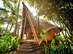 Designed by Ibuku, Bali's Green Village is a community of gorgeous homes built entirely from bamboo.
