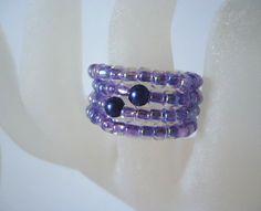 Purple Aurora Borealis Glass Seed Bead and by JulieDeeleyJewellery.com £2.99