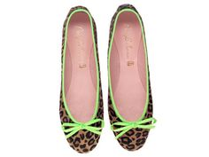neon and animal print Pretty Ballerinas flats