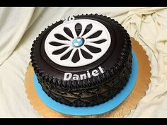 Gumiabroncs torta - How to make a tire cake - cake decorating tutorial - YouTube