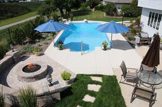 Pool and fire pit | Flickr - Photo Sharing!