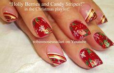 Easy Christmas Nail Art by Robin Moses