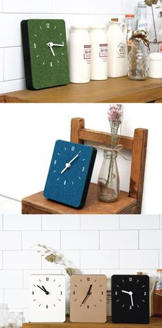 The Mini Sandwich Clock is a beautifully made clock which you can place on a table or hang on a wall! With simple yet attractive design, this clock also performs a role as a decoration. Also, there is no ticking sound so it remains super quiet!