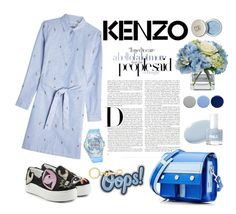 """Untitled #46"" by enamorado-dina ❤ liked on Polyvore featuring Kenzo, Diane James, Burberry and Anya Hindmarch"
