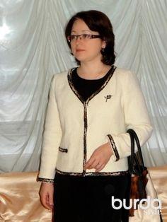 Biała kurtka / Pentax / Burdastyle