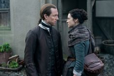 """Official 212 """"The Hail Mary"""" with Jack Randall (Tobias Menzies) and Claire Fraser (Caitriona Balfe) in Outlander Season Two on Starz"""