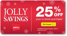 25% off coupons issued to some customers, available until 12/08  http://www.iheartcvs.com/2013/12/25-off-coupons-issued-to-some-customers.html