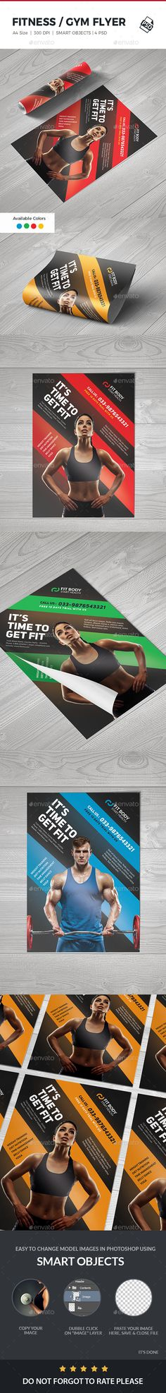 #Fitness #Flyer - #Sports Events Download here: https://graphicriver.net/item/fitness-flyer/19014044?ref=alena994