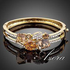 Design da marca 18k rose ouro chapeado ouro cor swa elementos swarovski pulseira bracelete de cristal frete
