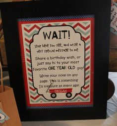 Little Red Wagon Guest Book Sign by declanandsmith on Etsy