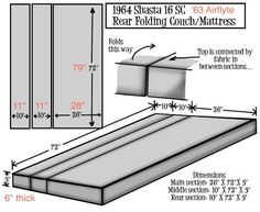 pattern for a folding couch/gaucho/camper bed