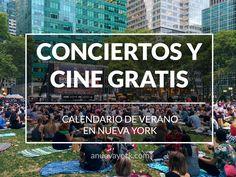 Calendario de los cines de verano en los parques de Nueva York.