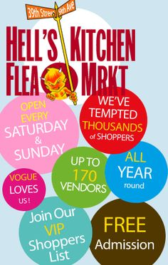 Hell's Kitchen Flea Market. My favorite is 'The Antiques Garage' at 112 West 25th St (between 6th and 7th). There are two levels. Weekends only.