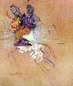 Profile of Woman by Henri Toulouse-Lautrec for Sale - New Zealand Art Prints