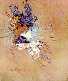 Profile of Woman by Henri Toulouse-Lautrec for Sale - New Zealand Art Prints