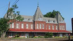 The gorgeous Illinois Central Railroad Station in Holly Springs, Mississippi. © Allyson Leigh Photography