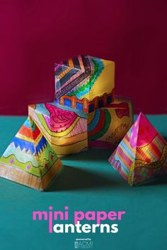 Let's create colorful mini paper lanterns using vellum and a variety of art supplies. Use them as party decorations! Science Projects For Kids, Creative Activities For Kids, School Art Projects, Arts And Crafts Projects, Babble Dabble Do, Light Crafts, Paper Crafts For Kids, Arts Ed, Paper Lanterns