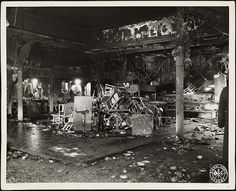 Interior of the Cocoanut Grove after the fire