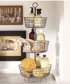 Shop tiered bath storage - vintage iron finish from Pottery Barn. Our furniture, home decor and accessories collections feature tiered bath storage - vintage iron finish in quality materials and classic styles. Ideas Para Organizar, Vintage Iron, Vintage Style, Home And Deco, Bathroom Organization, Organization Ideas, Bathroom Declutter, Bathroom Cleaning, Bathroom Inspiration