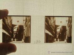 Fotografía antigua: MURCIA PLACA ESTEREOSCOPICA CRISTAL CALLE DEL PRINCIPE ALFONSO HACIA 1900 - Foto 1 - 45929990