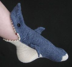 Shark attack sock!