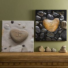 Heart Rock Personalized Canvas Art