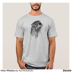 Otter Whiskers T-Shirt #otters #riverotters #otterlovers #tshirtdesigns #aff