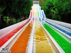 The mysterious waterslide that I always see on FB and I want to know where it is.