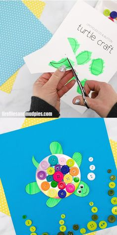 Learn how to make a super easy recycled CD and button TURTLE CRAFT with kids. This fun craft includes a free printable turtle template and video tutorial making it perfect for toddlers preschoolers teens school age kids and adults. Winter Crafts For Kids, Crafts For Kids To Make, Summer Crafts, Kids Crafts, Craft Kids, Crafts With Toddlers, Button Crafts For Kids, Spring Toddler Crafts, Easy Crafts For Teens