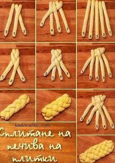 56 Gorgeous from Each Other of Homemade Pastries, Easy Food Decorations - Delicious Food Kids Pastry Recipes, Bread Recipes, Dessert Recipes, Cooking Recipes, Bread Shaping, Braided Bread, Homemade Pastries, Artisan Bread, Sweet Bread