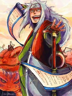 Nov 11 happy birthday Jiraiya! Minato and Naruto are in the background.