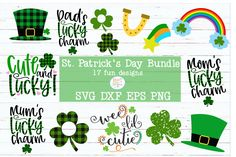 Cute & Fun SVG, printables and Embroidery Designs by BizzyLouDesigns St Pattys, St Patricks Day, Spring Words, St Patrick Day Shirts, St Paddys Day, Spring Crafts, Diy Cards, Favorite Holiday, Cutting Files